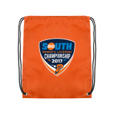 Orange Drawstring Backpack-Big South Womens Lacrosse Championship 2017