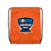 Orange Drawstring Backpack-Big South Outdoor Track and Field Championship 2017