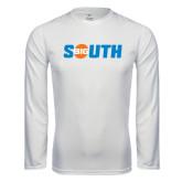 Performance White Longsleeve Shirt-Big South