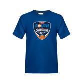 Youth Royal T Shirt-Hardies Big South Baseball Championship 2017