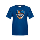 Youth Royal T Shirt-Big South Football Championship 2017