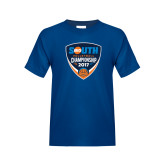 Youth Royal T Shirt-Big South Volleyball Championship 2017