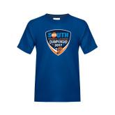 Youth Royal T Shirt-Big South Womens Lacrosse Championship 2017