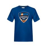 Youth Royal T Shirt-Big South Womens Soccer Championship 2017