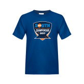 Youth Royal T Shirt-Big South Outdoor Track and Field Championship 2017