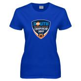 Ladies Royal T Shirt-Big South Womens Soccer Championship 2017