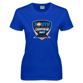 Ladies Royal T Shirt-Big South Outdoor Track and Field Championship 2017