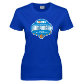 Ladies Royal T Shirt-Big South Womens Basketball Championship