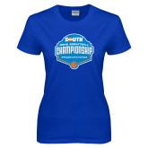 Ladies Royal T Shirt-Big South Mens Basketball Championship