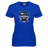 Ladies Royal T Shirt-Big South Track and Field Championship
