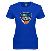 Ladies Royal T Shirt-Big South Football Championship 2017