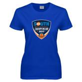 Ladies Royal T Shirt-Big South Mens Basketball Championship 2017