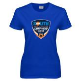 Ladies Royal T Shirt-Big South Mens Soccer Championship 2017