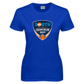 Ladies Royal T Shirt-Big South Softball Championship 2017