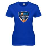 Ladies Royal T Shirt-Big South Womens Basketball Championship 2017