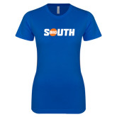 Next Level Ladies SoftStyle Junior Fitted Royal Tee-Big South