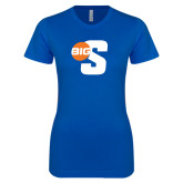 Next Level Ladies SoftStyle Junior Fitted Royal Tee-Big S