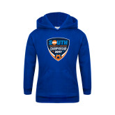 Youth Royal Fleece Hoodie-Big South Womens Soccer Championship 2017