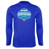 Performance Royal Longsleeve Shirt-Big South Womens Basketball Championship