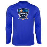 Performance Royal Longsleeve Shirt-Big South Track and Field Championship
