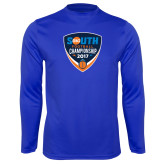 Performance Royal Longsleeve Shirt-Big South Football Championship 2017