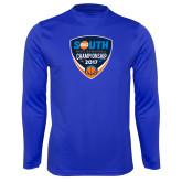 Performance Royal Longsleeve Shirt-Big South Mens Basketball Championship 2017