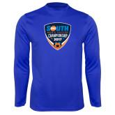 Performance Royal Longsleeve Shirt-Big South Mens Soccer Championship 2017