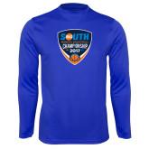 Performance Royal Longsleeve Shirt-Big South Womens Basketball Championship 2017