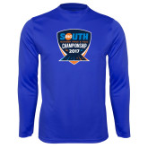Performance Royal Longsleeve Shirt-Big South Outdoor Track and Field Championship 2017