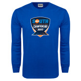 Royal Long Sleeve T Shirt-Big South Track and Field Championship