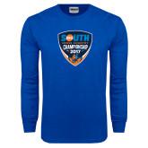 Royal Long Sleeve T Shirt-Big South Cross Country Championship 2017
