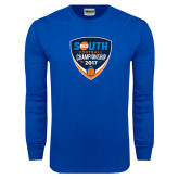Royal Long Sleeve T Shirt-Big South Football Championship 2017