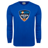 Royal Long Sleeve T Shirt-Big South Volleyball Championship 2017
