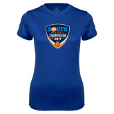 Ladies Syntrel Performance Royal Tee-Big South Football Championship 2017