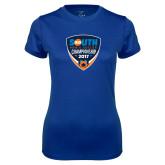 Ladies Syntrel Performance Royal Tee-Big South Mens Soccer Championship 2017