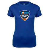 Ladies Syntrel Performance Royal Tee-Big South Volleyball Championship 2017