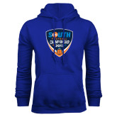 Royal Fleece Hoodie-Big South Football Championship 2017