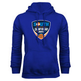 Royal Fleece Hoodie-Big South Volleyball Championship 2017