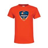 Youth Orange T Shirt-Hardies Big South Baseball Championship 2017