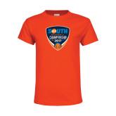 Youth Orange T Shirt-Big South Baseball Championship 2017