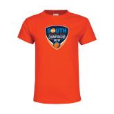 Youth Orange T Shirt-Big South Womens Golf Championship 2017
