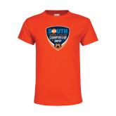 Youth Orange T Shirt-Big South Womens Soccer Championship 2017