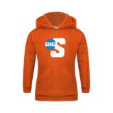 Youth Orange Fleece Hoodie-Big S