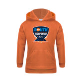 Youth Orange Fleece Hoodie-Big South Track and Field Championship