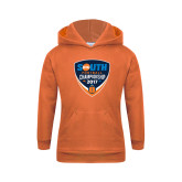 Youth Orange Fleece Hoodie-Big South Football Championship 2017