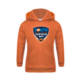 Youth Orange Fleece Hoodie-Big South Mens Soccer Championship 2017