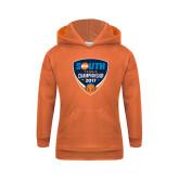 Youth Orange Fleece Hoodie-Big South Tennis Championship 2017