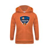 Youth Orange Fleece Hoodie-Big South Womens Golf Championship 2017
