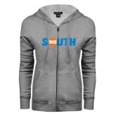 ENZA Ladies Grey Fleece Full Zip Hoodie-Big South