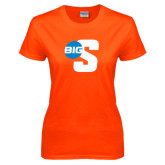 Ladies Orange T Shirt-Big S